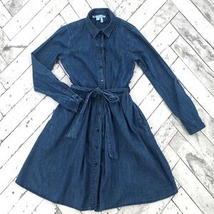 Draper James Chambray Belted Shirt Dress